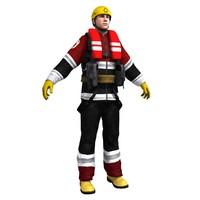 3d rescue guard model