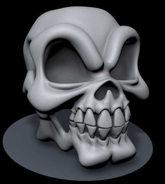 3ds max stylized skull