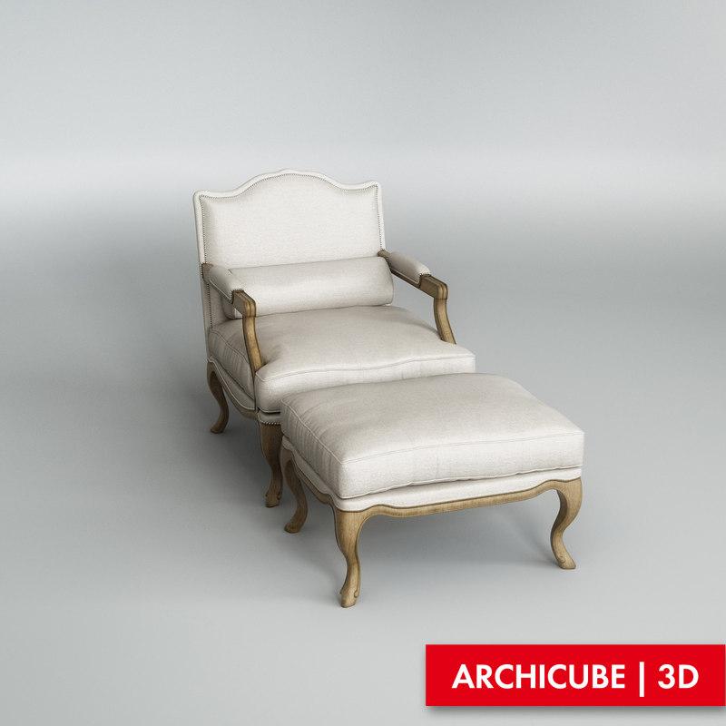 max chair armchair ottoman