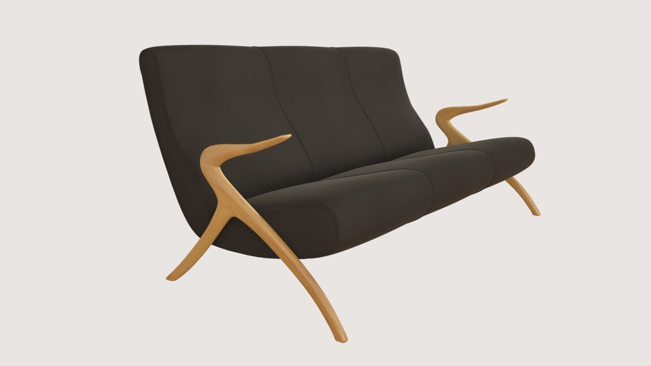 3d model couch 60 s -