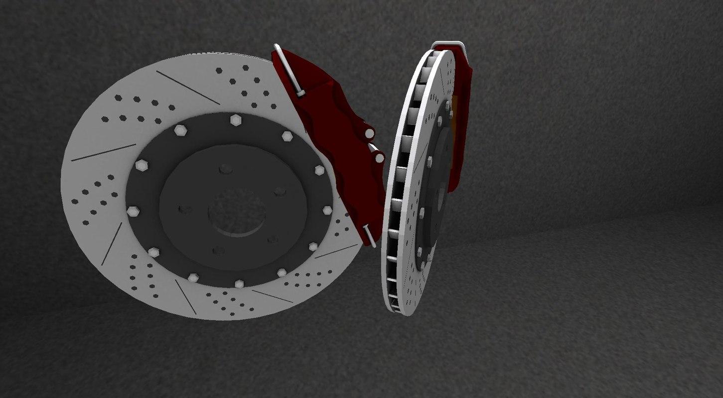 brake disc 3d obj