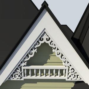 3d decorative gable model