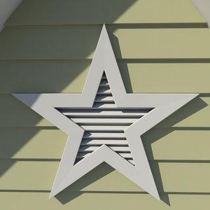 3d model decorative gable vent