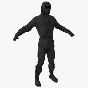 3d model ninja clothes