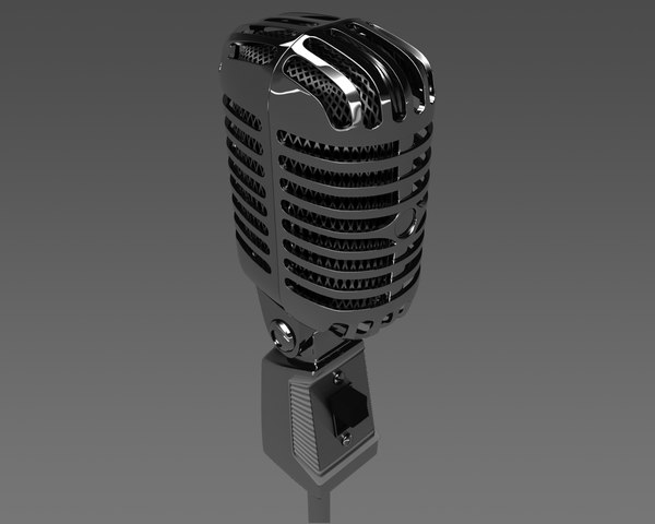 3d model old mic microphone