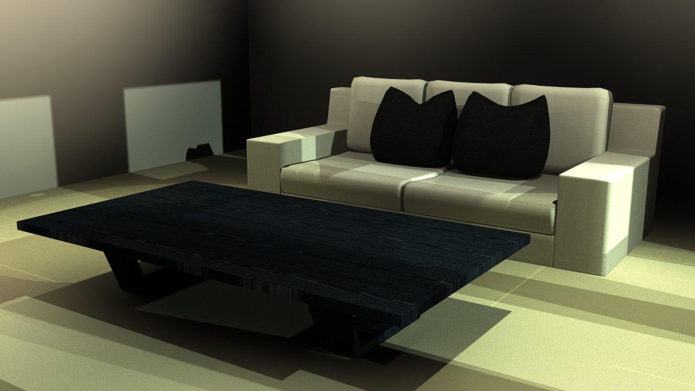 3d 3ds modern sofa