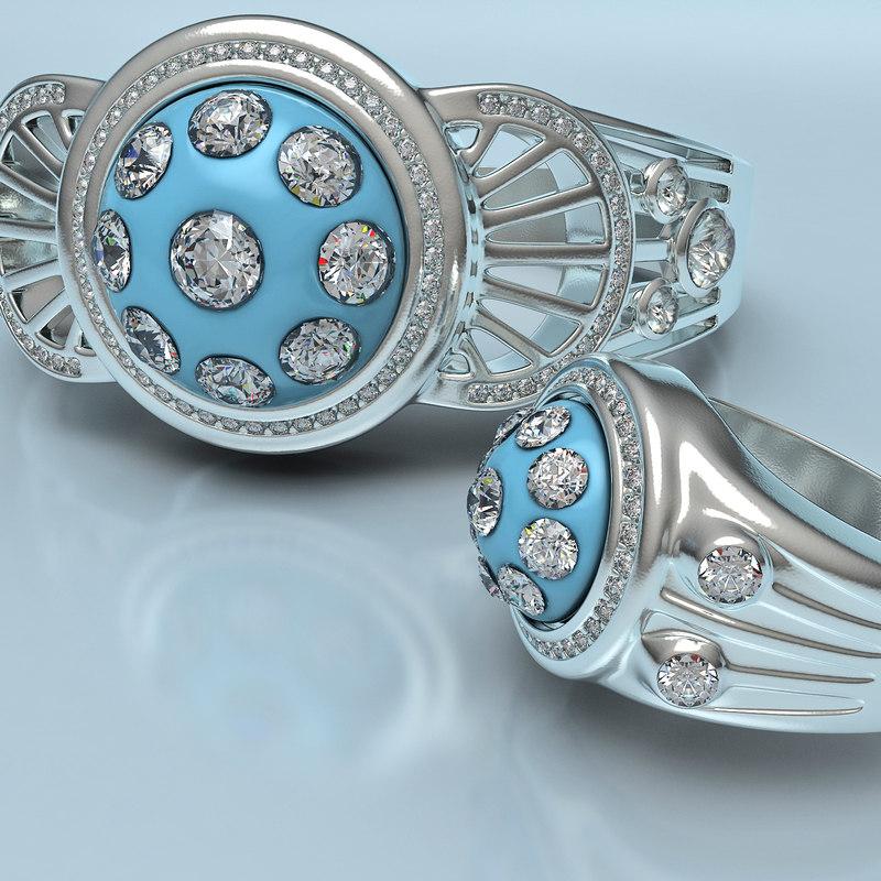3d ring bracelet