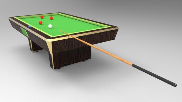 carambole table 3d obj