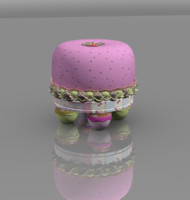 children stool fruit fruffet 3d model