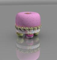 Children Stool FruitCake fun cake fruit foot small little fruffet pink girl room