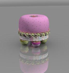children stool fruit fruffet 3d model