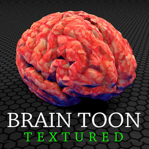 brain toon 3d model