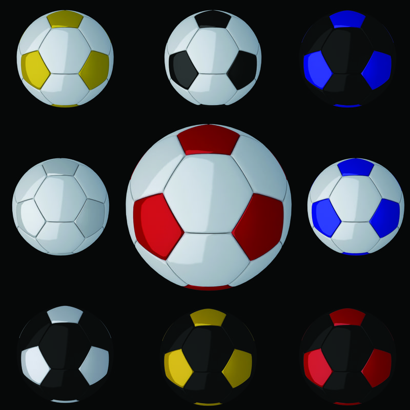 soccer football 3d model