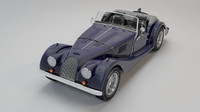 retro car morgan 4-4 3d max