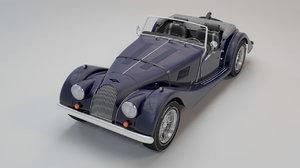 retro car morgan 4-4 3d max