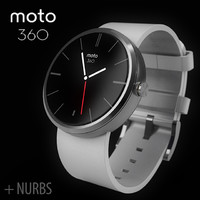 Motorola moto360 leather + NURBS