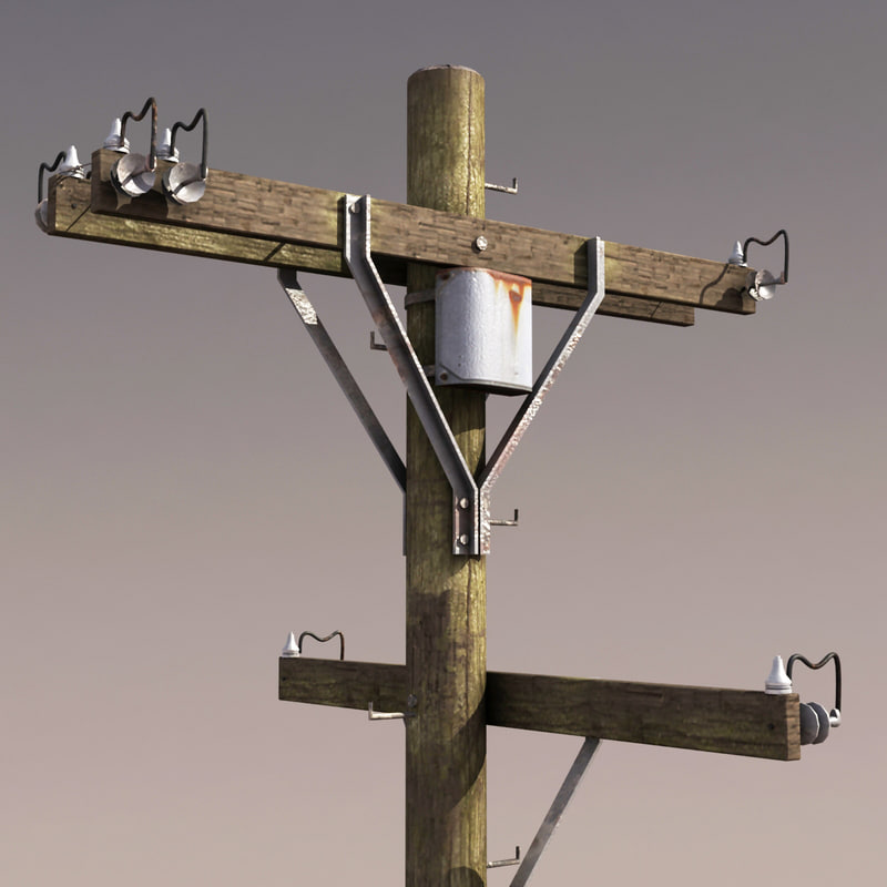 telephone pole modeled
