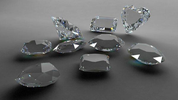 3d model diamond jewellery