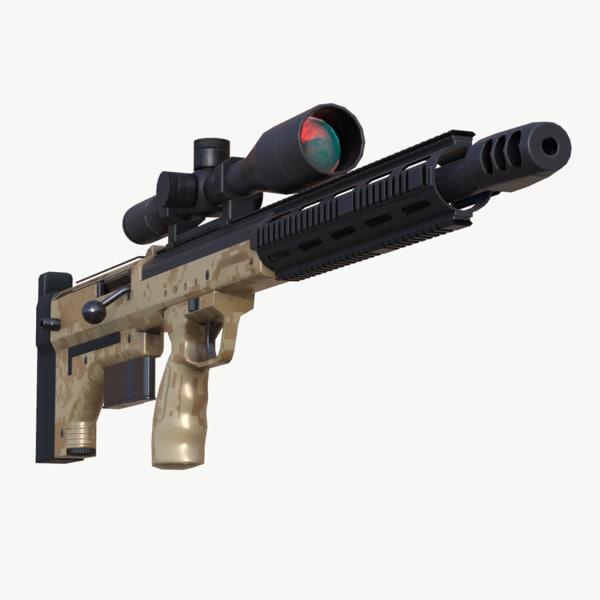 dta srs a1 sniper rifle 3d model
