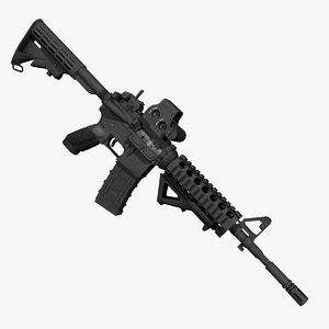 m4a1 rifle 3d max