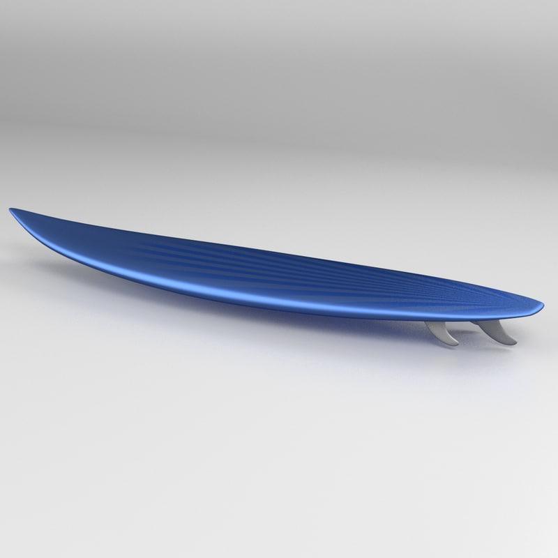 shortboard surfboard 3d dxf