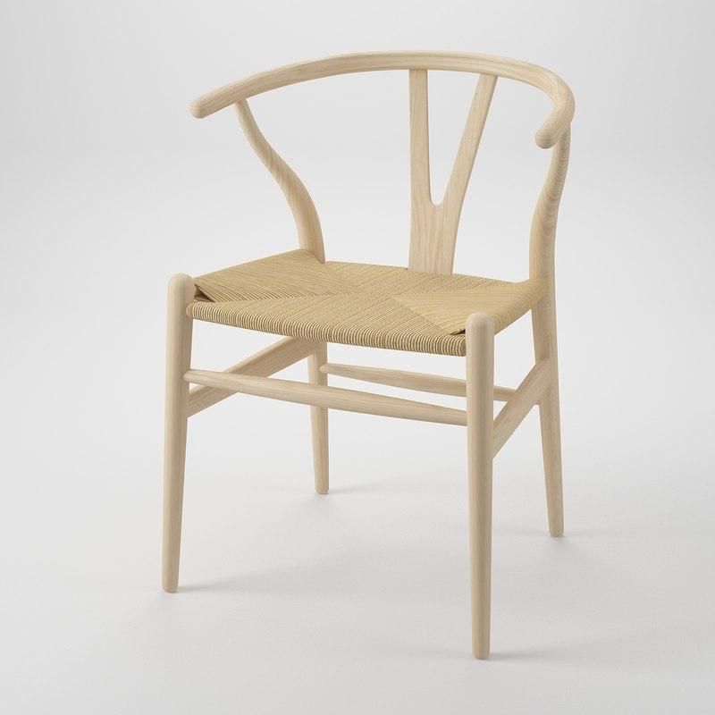 3dsmax hans j wegner chair