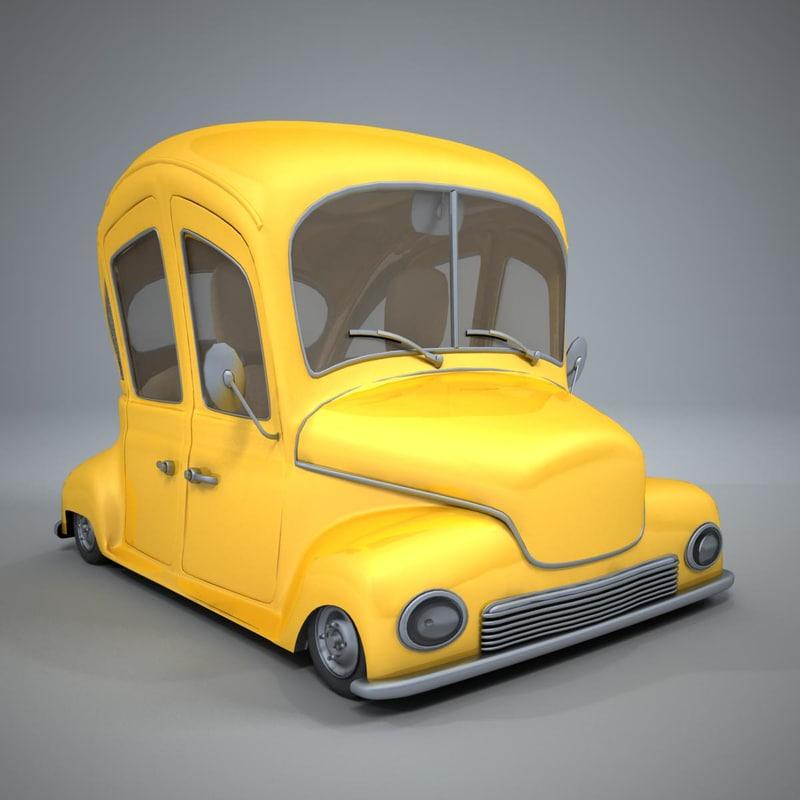 cartoon classic car max
