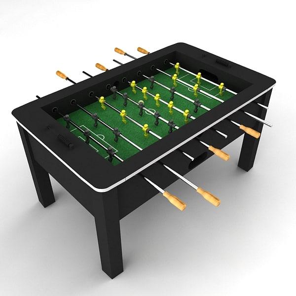 3d soccer table foosball model
