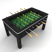 3d soccer table foosball model