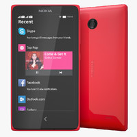nokia x red 3d model