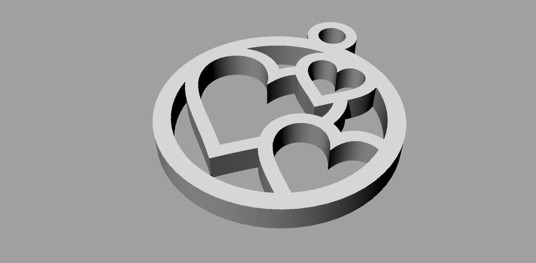 heart cnc pendant 3d 3ds