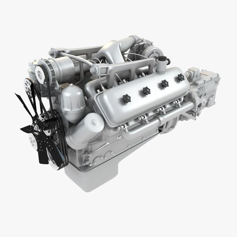 engine kraz 3ds