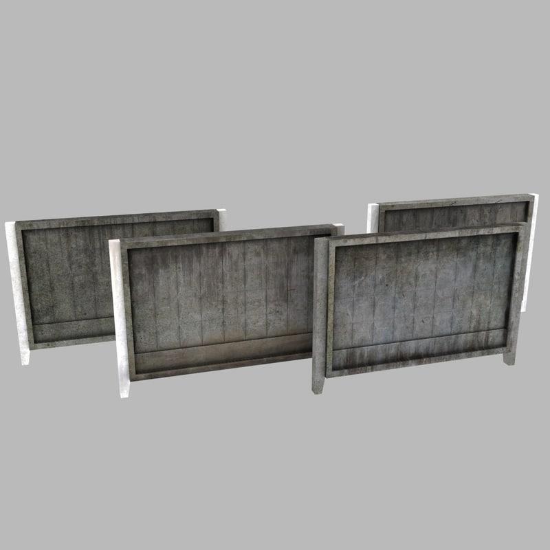 3d concrete wall