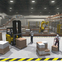 Cargo Warehouse with Robot