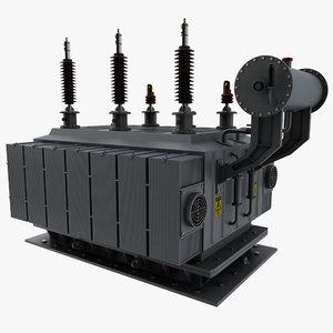 3d electric power transformator