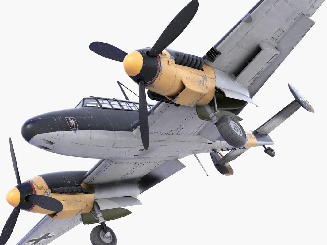 3d bf-110 german bomber 1 model