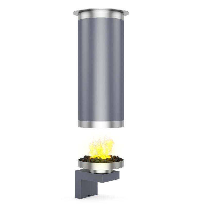 c4d metal fireplace