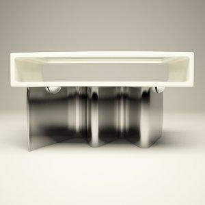 wave table 3d 3ds