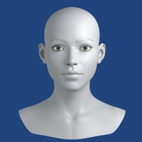 3d realistic young woman head
