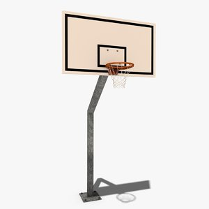 basket backboard 3d model
