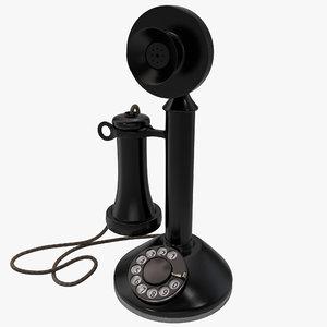 3d candlestick phone model