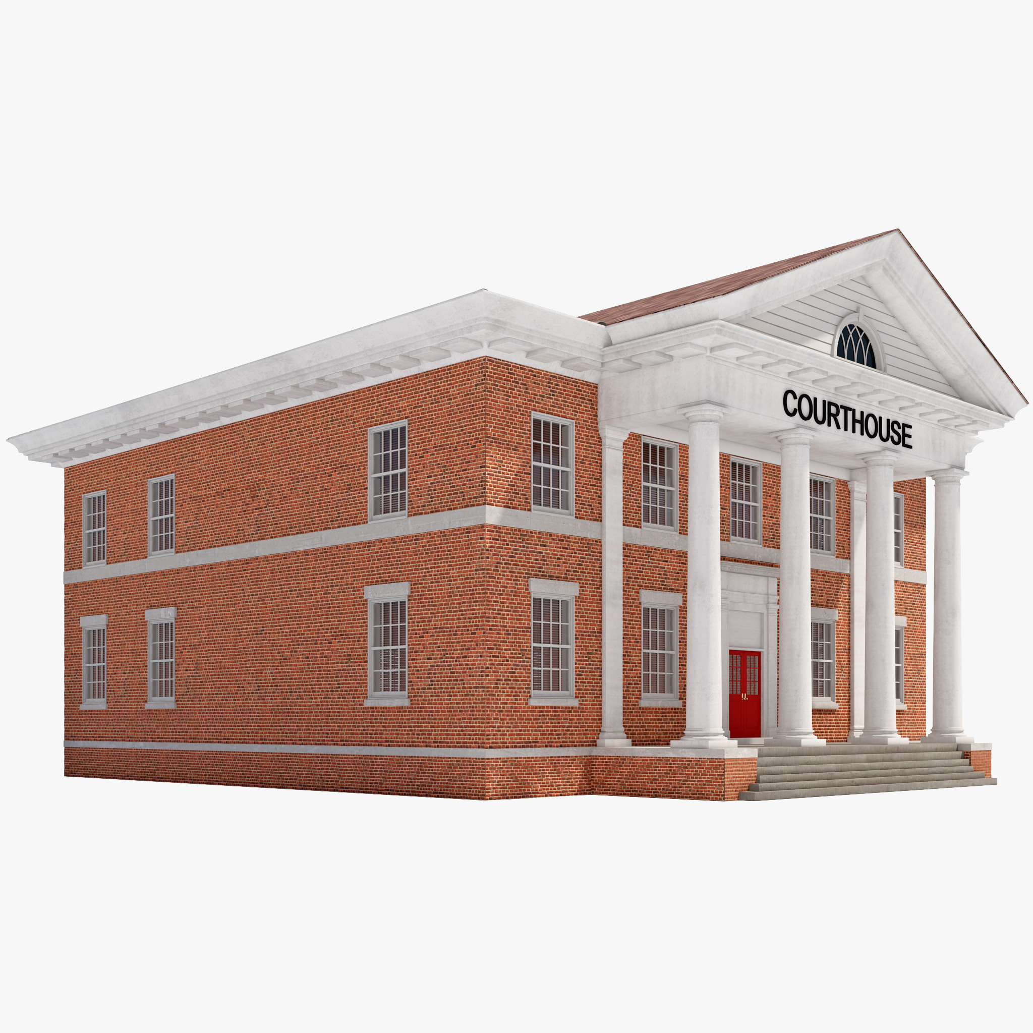 3d model courthouse building