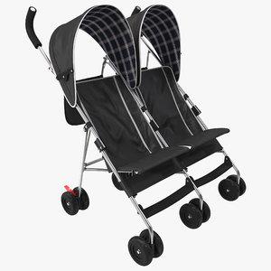 3d double umbrella stroller