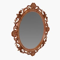 French Style Gold Oval Mirror