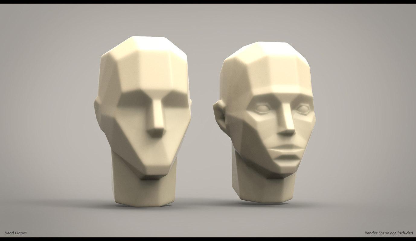 3d model planes head anatomy