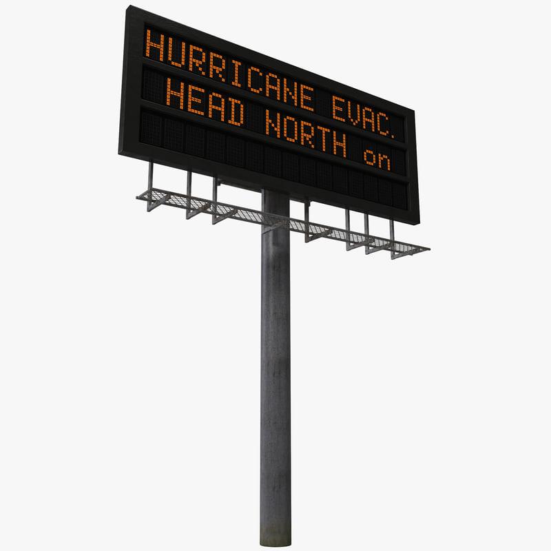 highway signage 8 3d model