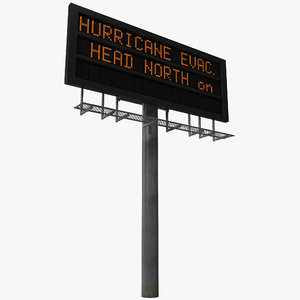 highway signage 8 3d model