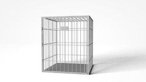 cage modeled fbx