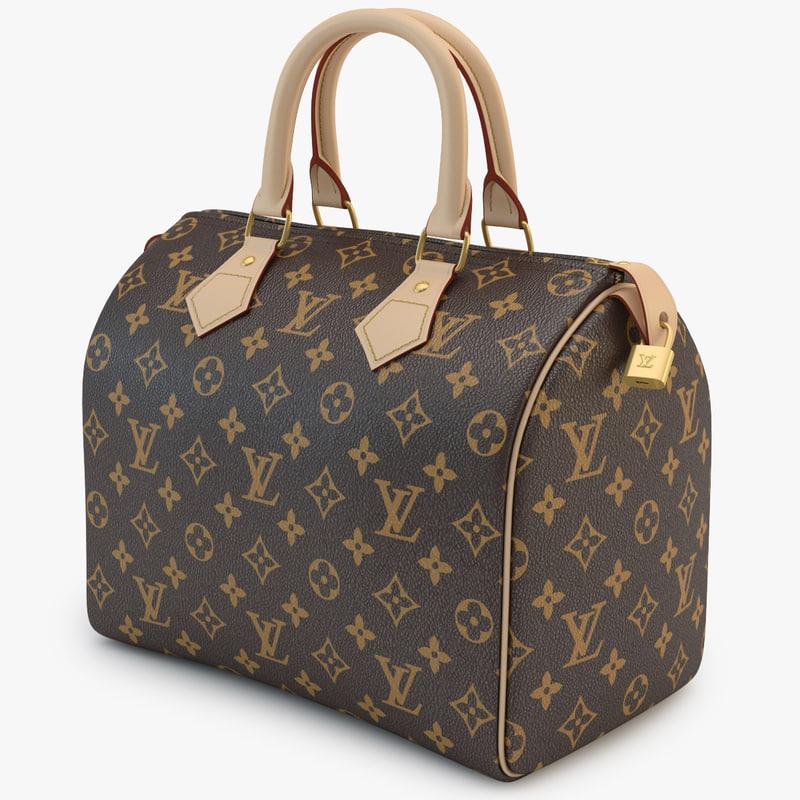 3d louis vuitton bag 01 model
