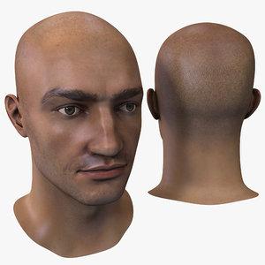 3d male head 16